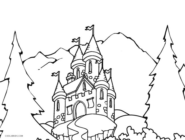 Simple Sand Castle Coloring Pages Coloring Pages