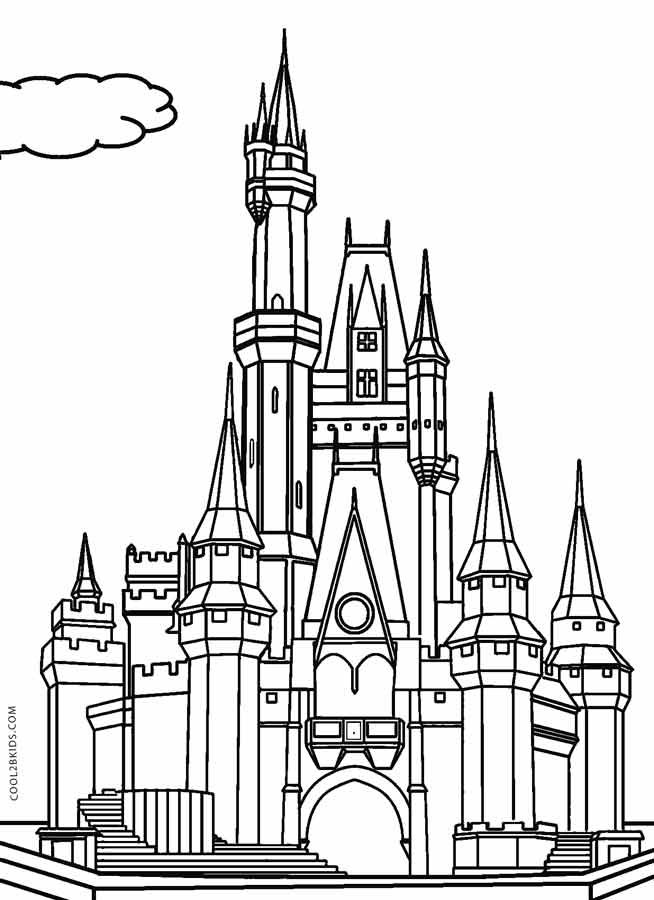 Printable Castle Coloring Pages For Kids
