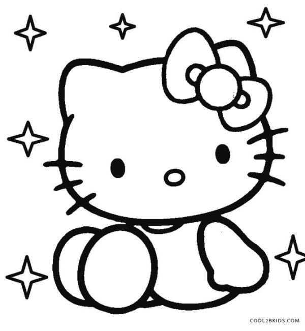 free printable hello kitty coloring pages # 6