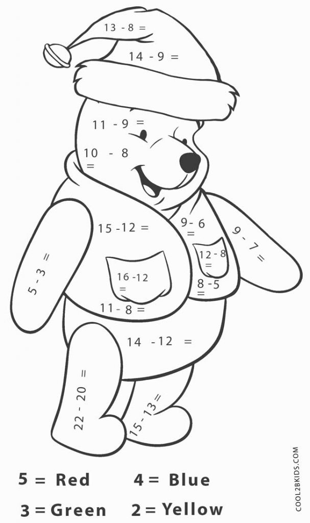 Christmas Coloring Math Problems Coloring Pages