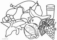 Healthy Food Coloring Pages Pictures to Pin on Pinterest ...