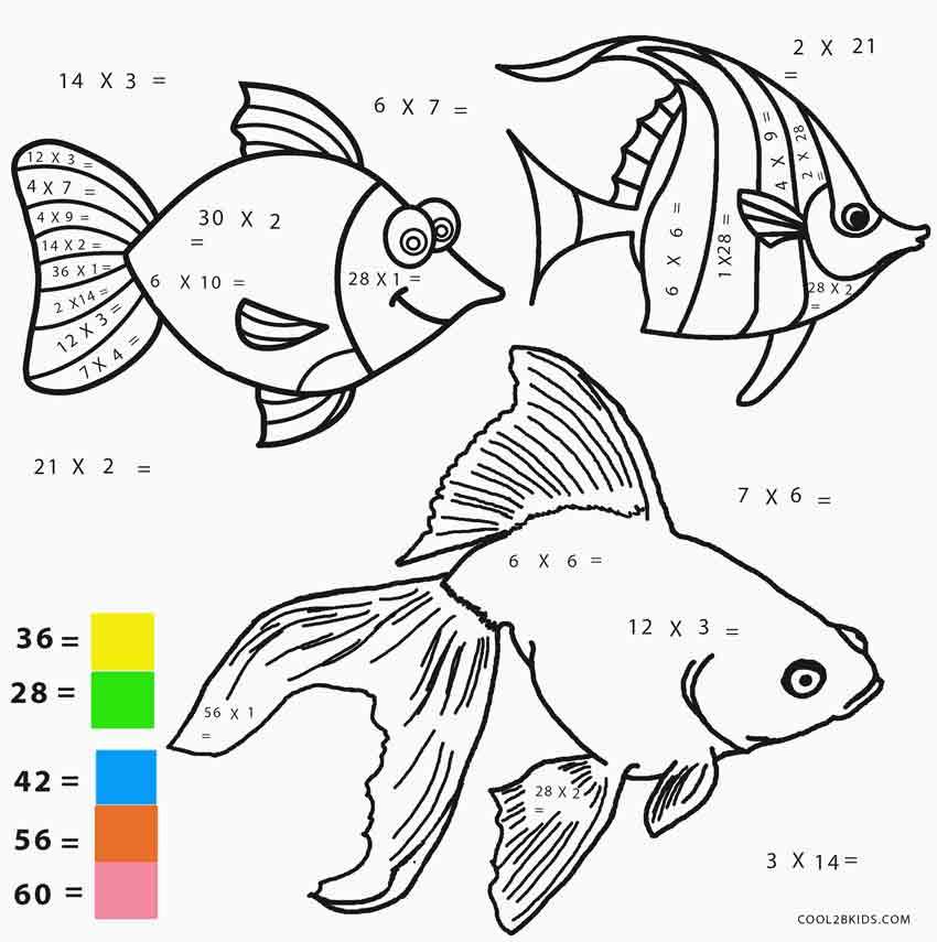 Free Math Coloring Pages – Cute766