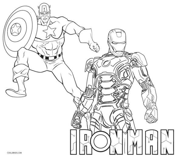 ironman coloring page # 9