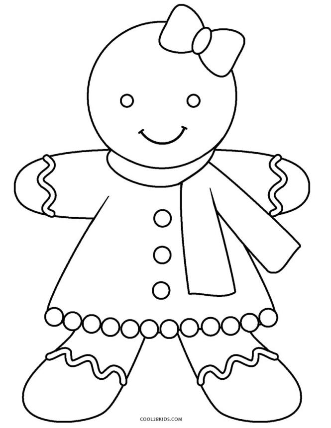free printable gingerbread man coloring pages for kids cool2bkids - Gingerbread Man Coloring Page