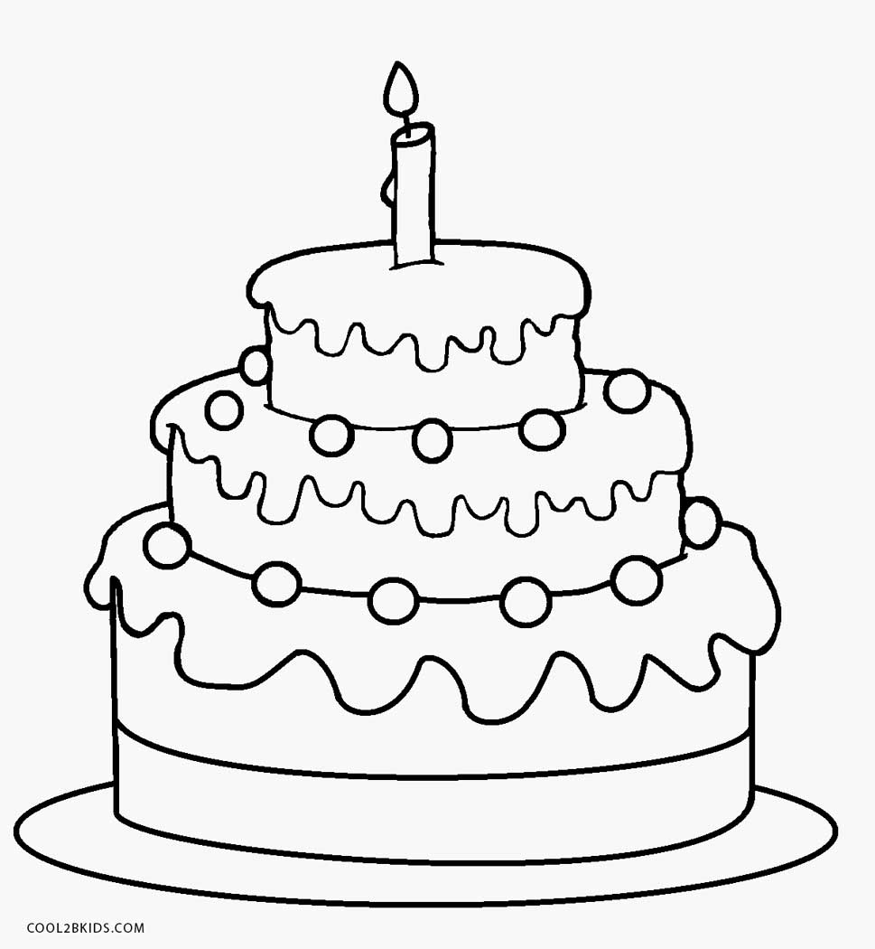 2 Tier Cake Template Sketch Coloring Page
