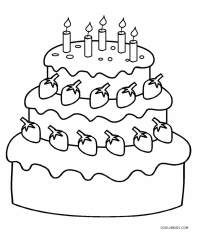 Free Printable Birthday Cake Coloring Pages For Kids ...