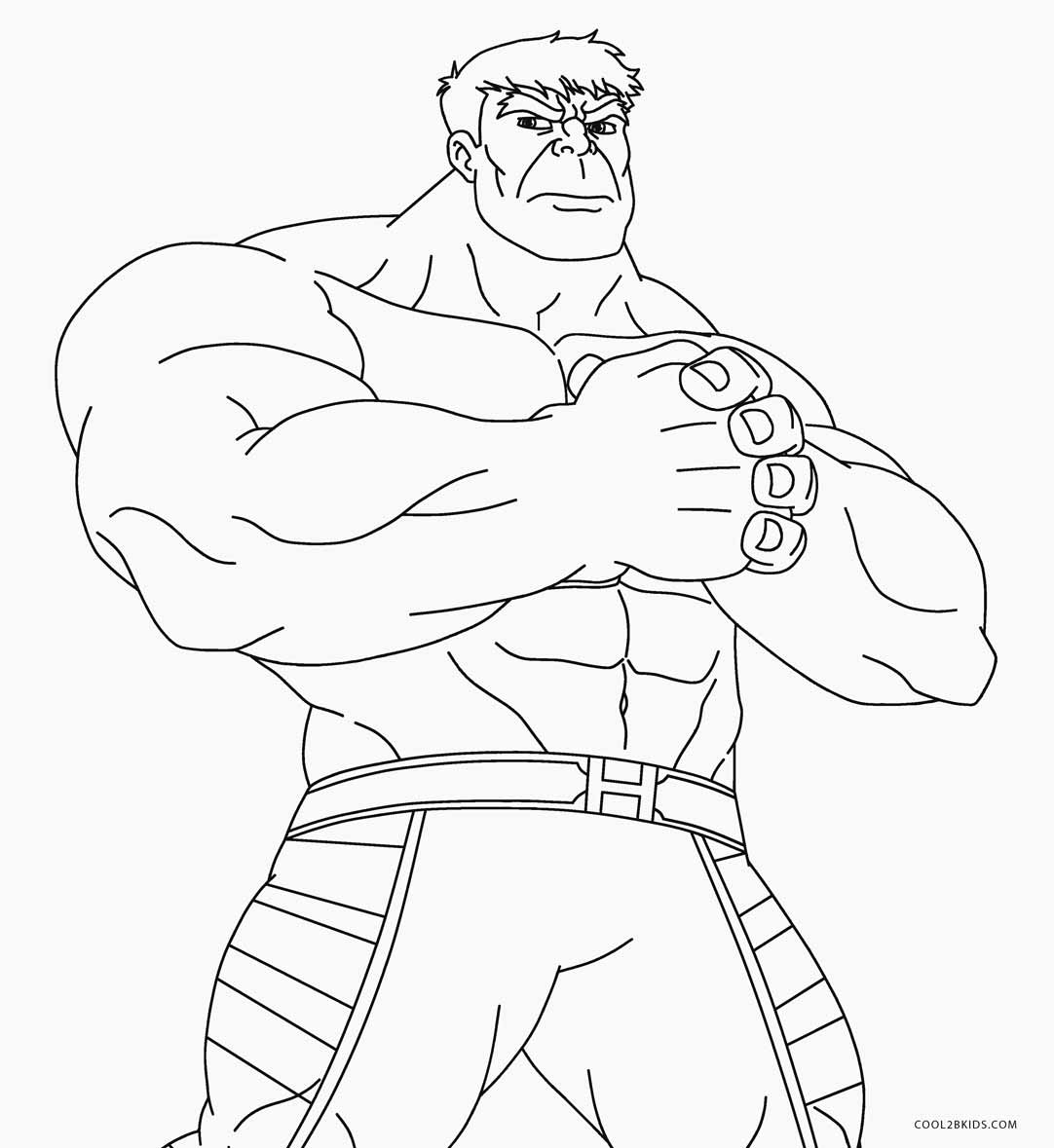 Hulk Full Body Coloring Pages