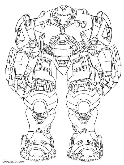Hulkbuster Coloring Pages For Kids