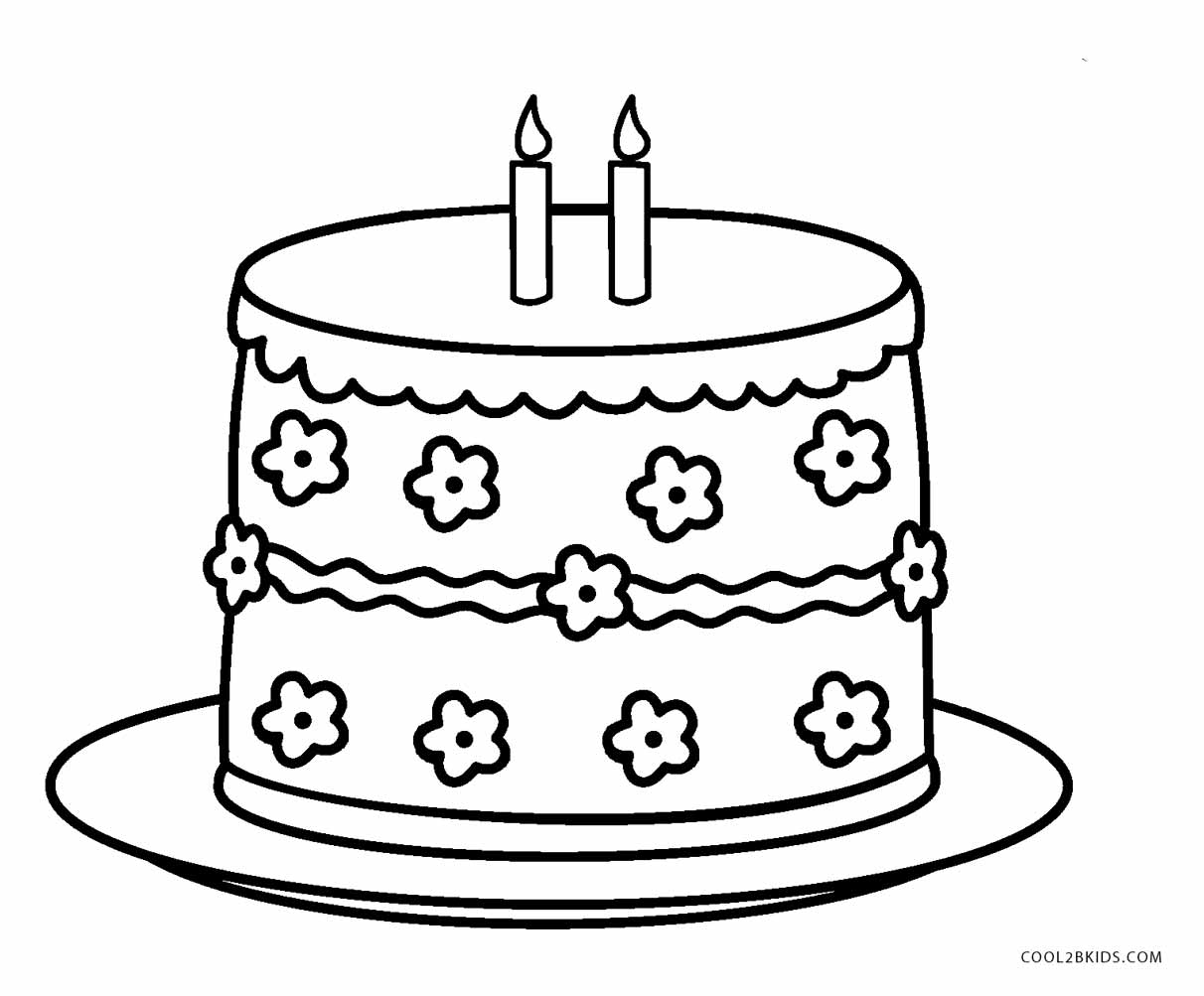 Tiered Cake Coloring Coloring Pages