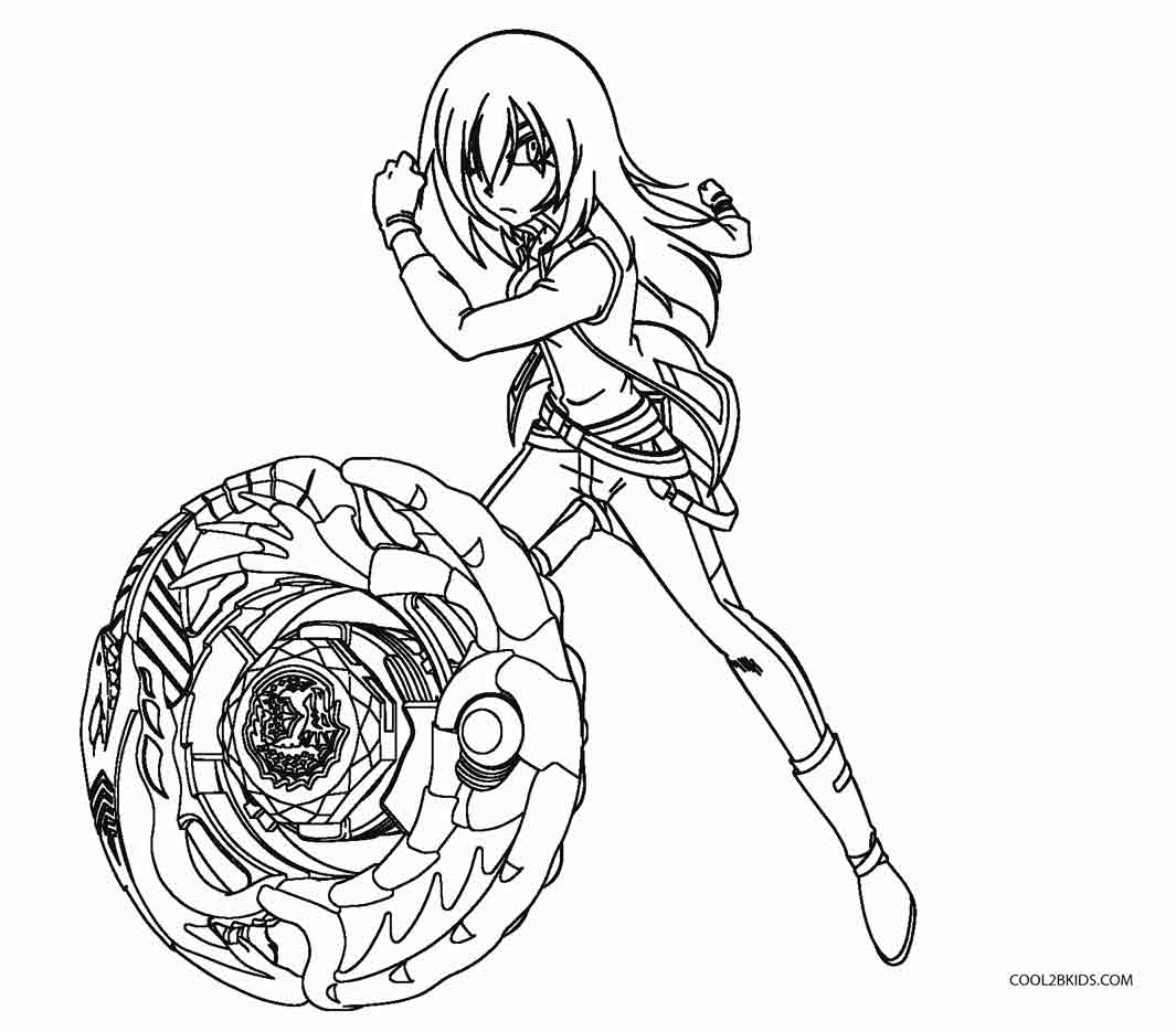 Beyblade Burst Characters Coloring Pages