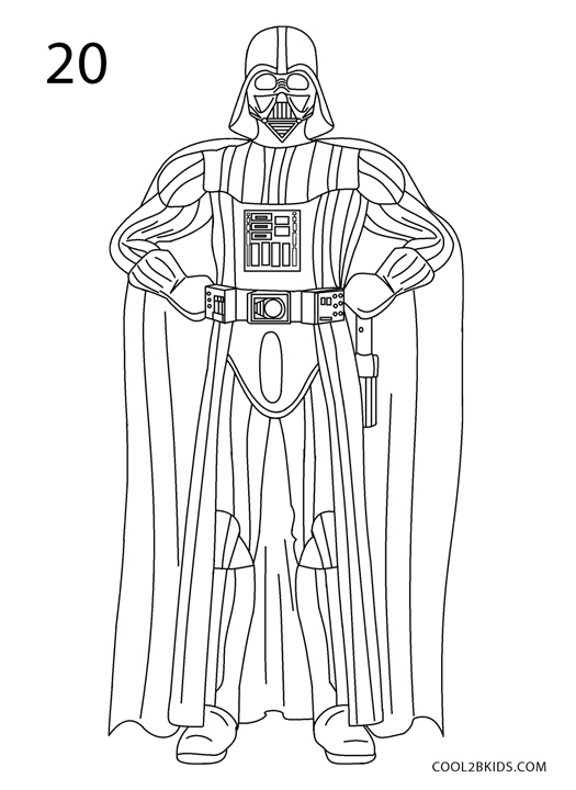 How To Draw Darth Vader Step By Step Pictures Cool2bKids