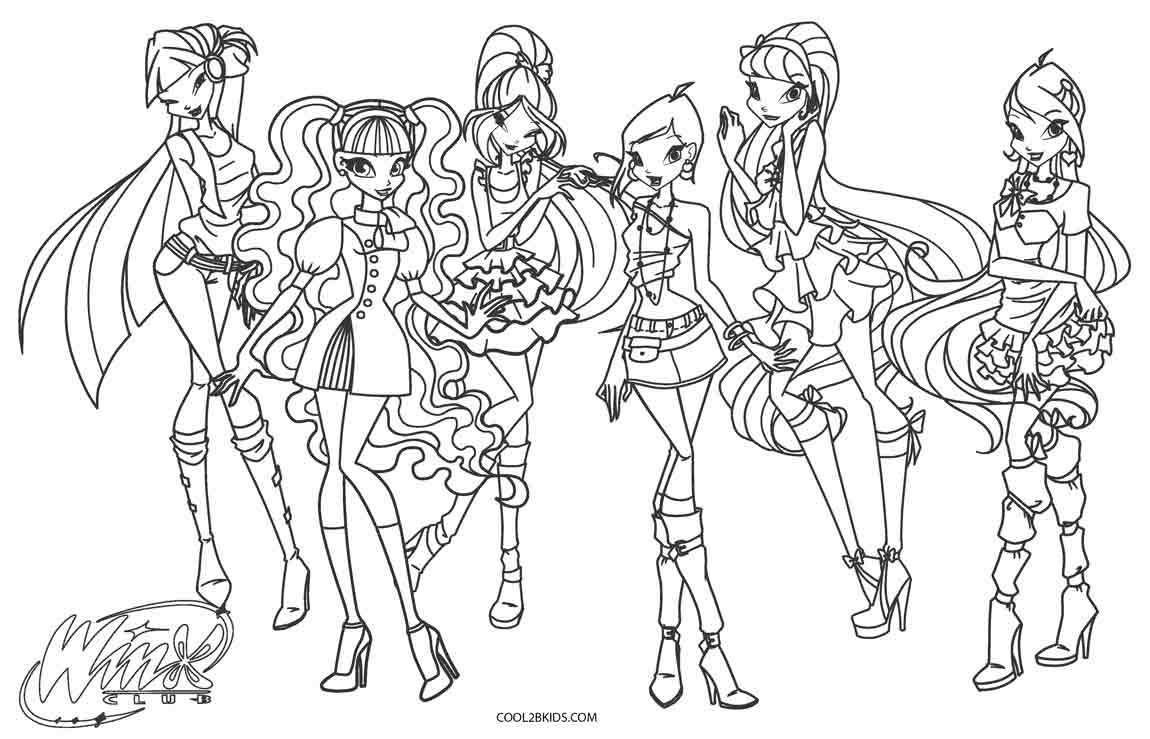 Free Printable Winx Coloring Pages For Kids