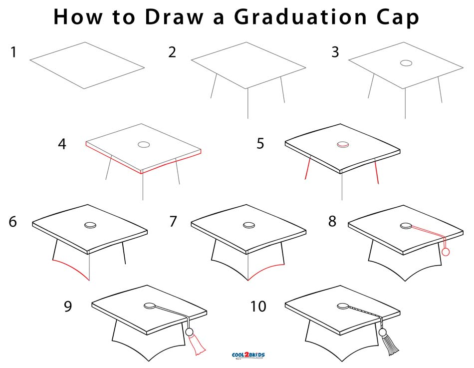 How to Draw a Graduation Cap (Step by Step Pictures