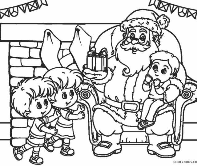 Free Printable Santa Coloring Pages For Kids Coolbkids