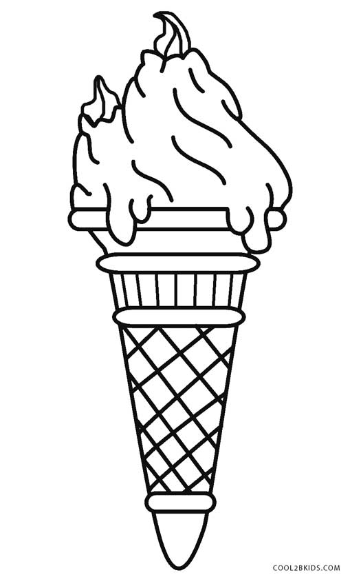 Pages Ice Cream Maker Coloring Pages
