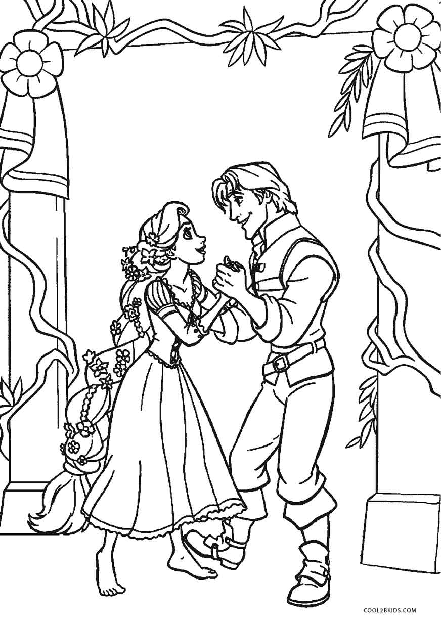 Free Printable Tangled Coloring Pages For Kids | Cool2bKids | free coloring pages printable