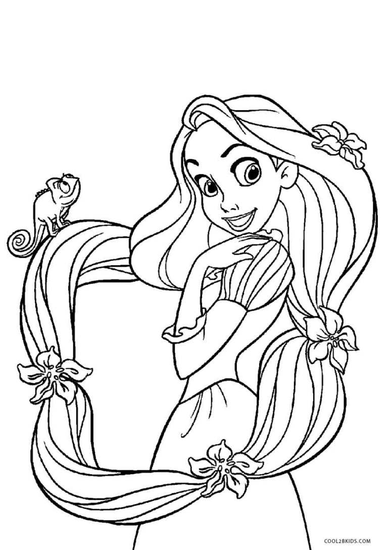 Free Printable Tangled Coloring Pages For Kids | Cool2bKids | printable colouring pages