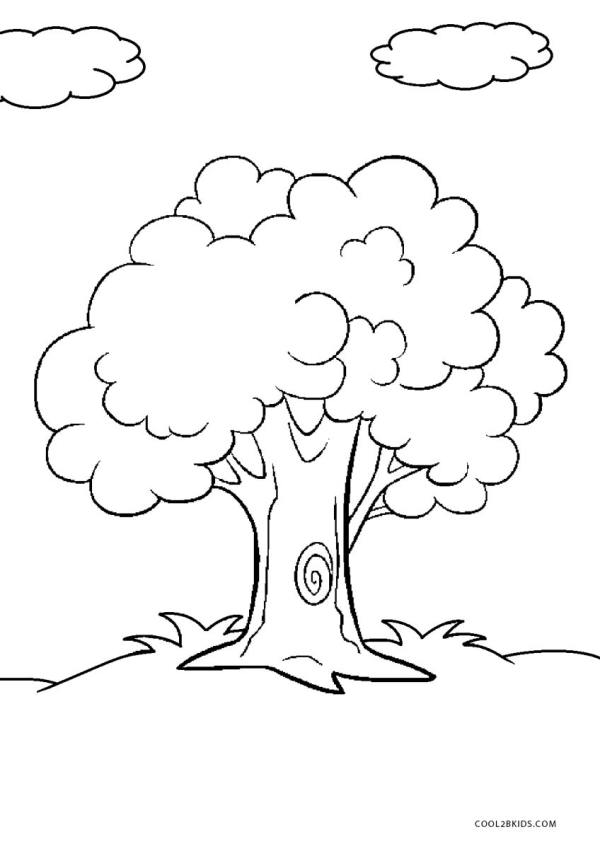 trees coloring pages # 2