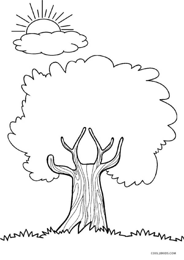 coloring pages of trees # 5