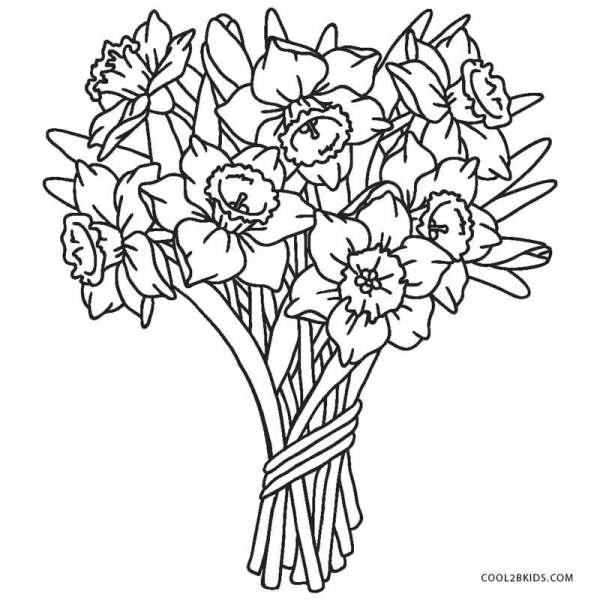 free printable flower coloring