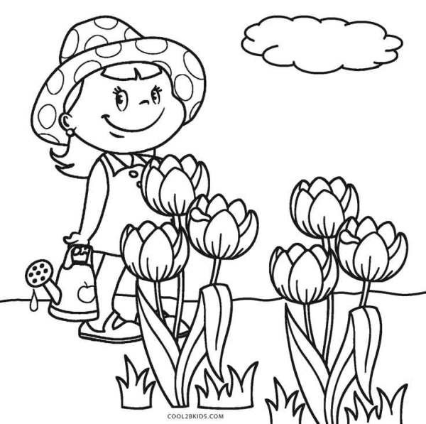 printable coloring pages of flowers # 54