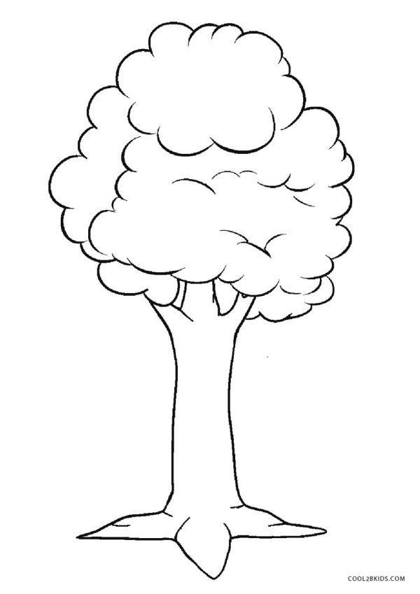 trees coloring pages # 4