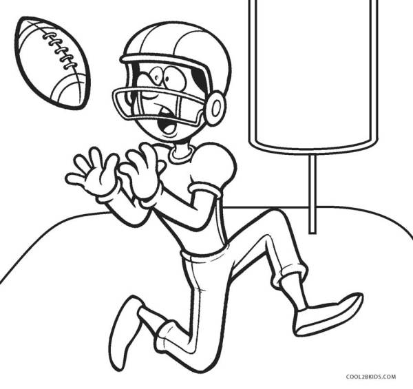football player coloring page # 11