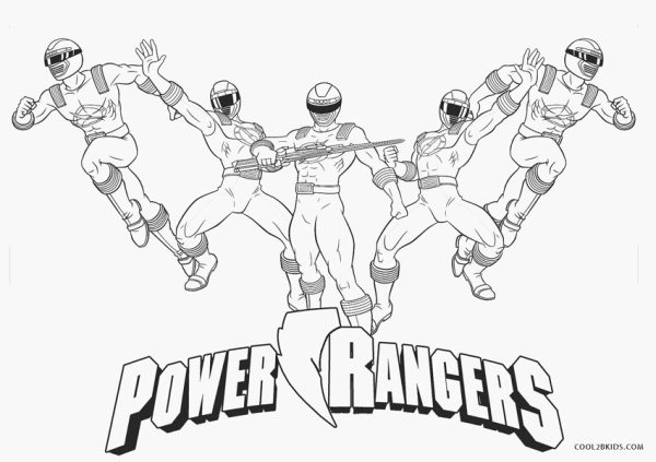 power rangers coloring page # 5