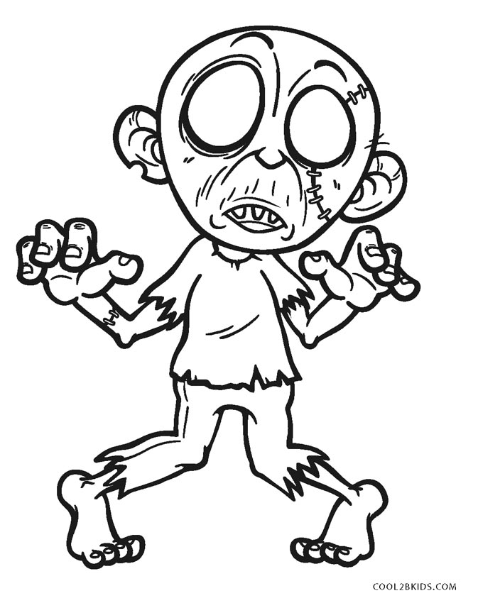 Free Printable Zombie Coloring Pages For Kids