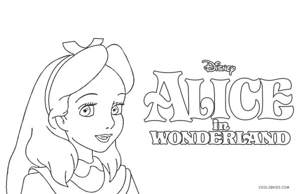 alice in wonderland coloring page # 13