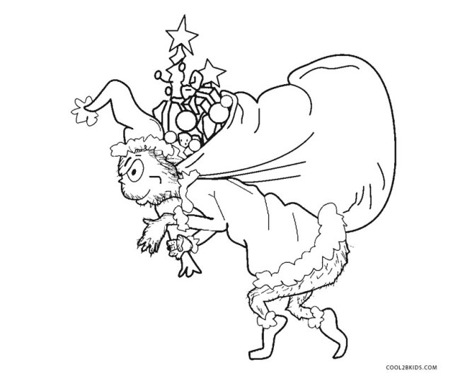 Free Printable Grinch Coloring Pages For Kids Coolbkids