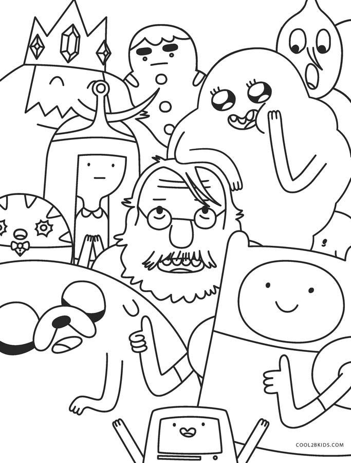 Free Printable Adventure Time Coloring Pages For Kids