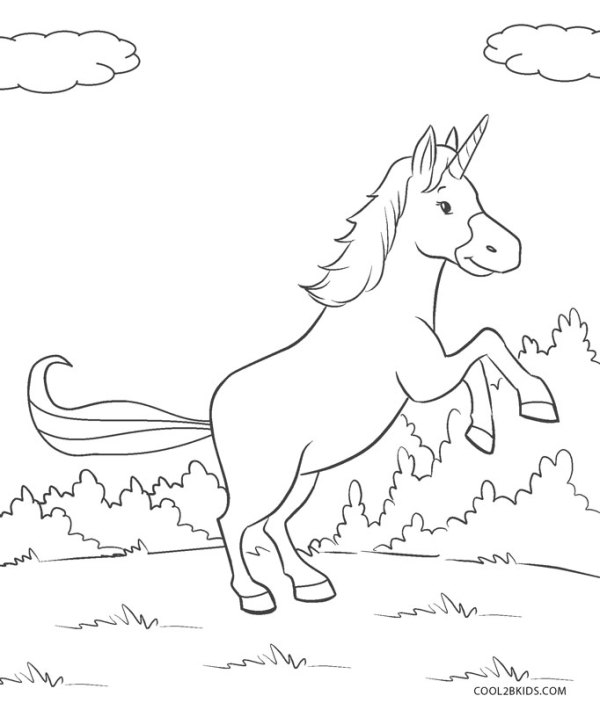 free coloring kids unicorn # 17