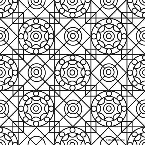 Free Printable Geometric Coloring Pages for Kids