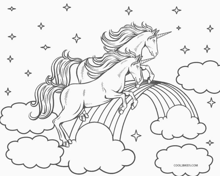 Free Printable Unicorn Coloring Pages For Kids | Cool2bKids | free printable coloring pages unicorn rainbow