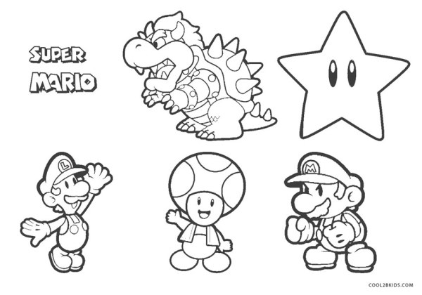 super mario brothers coloring pages # 61