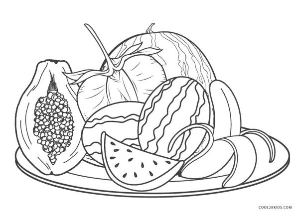fruits coloring pages # 64