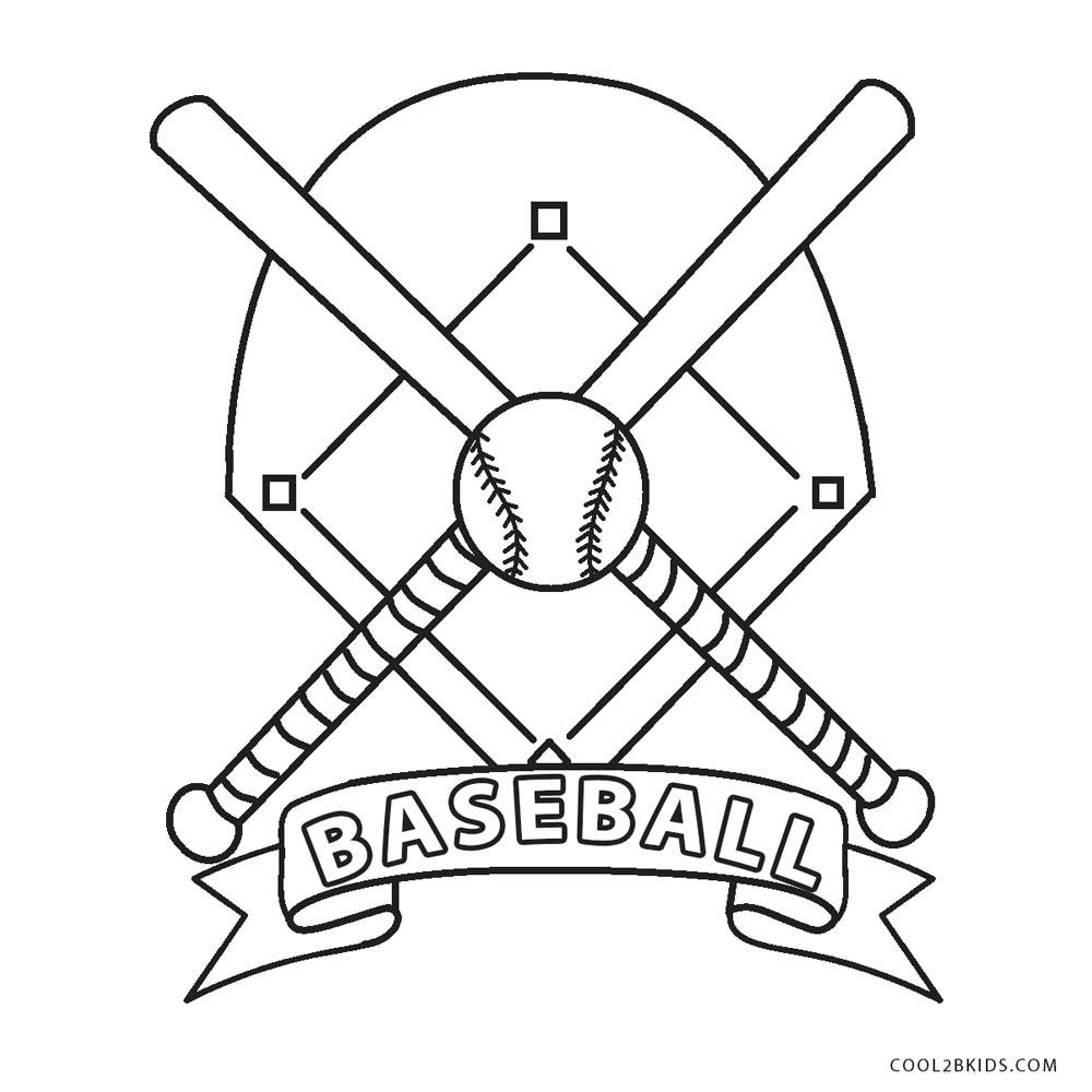 Baseball Diamond Coloring Pages