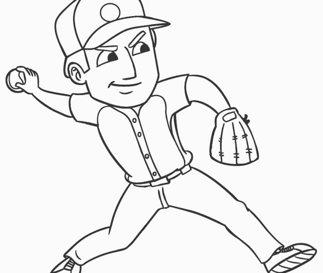 Free Printable Baseball Coloring Pages For Kids Coolbkids