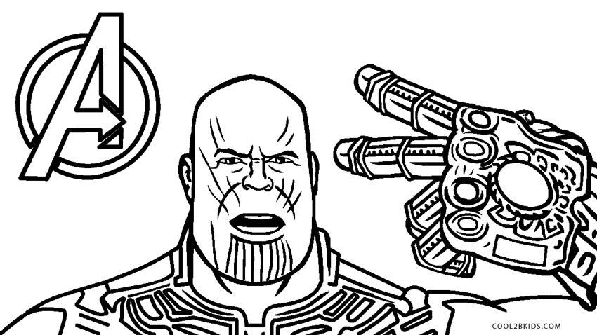 Dibujos Para Colorear De Marvel Infinity War