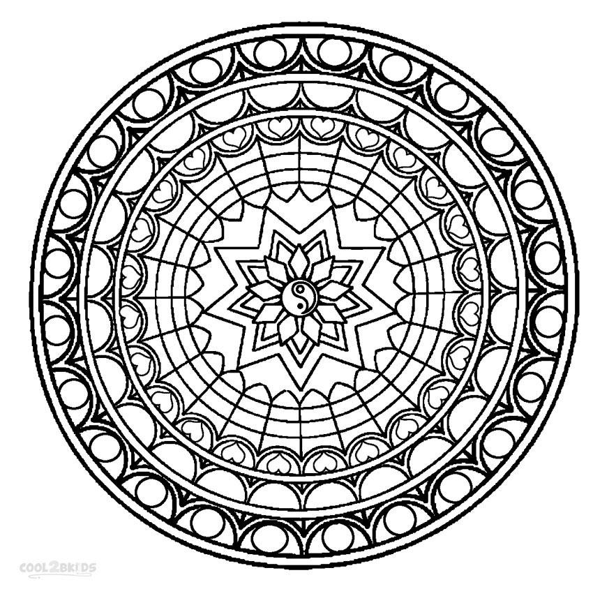 Ausmalbilder Mandala - Malvorlagen kostenlos zum ausdrucken