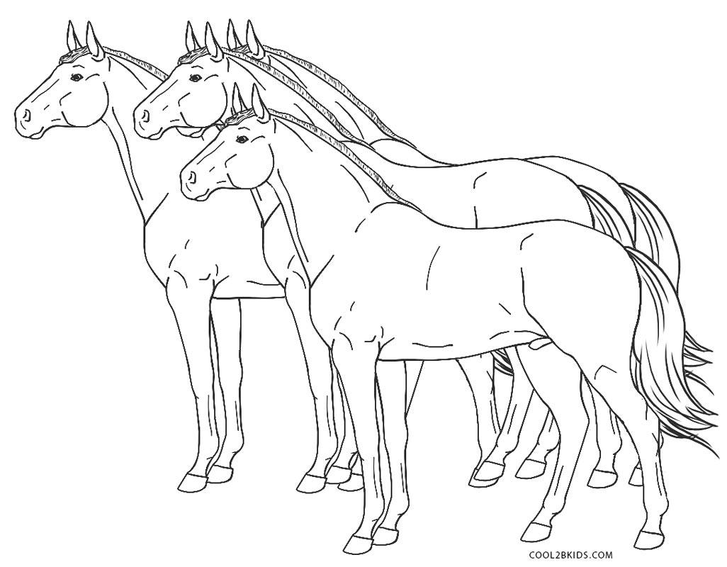 Malvorlagen Zum Ausdrucken Pferde