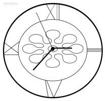 Ausmalbilder Uhr   Malvorlagen kostenlos zum ausdrucken