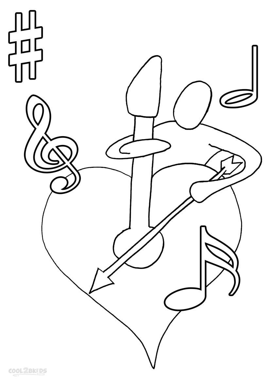 Ausmalbilder Musiknoten - Malvorlagen kostenlos zum ausdrucken