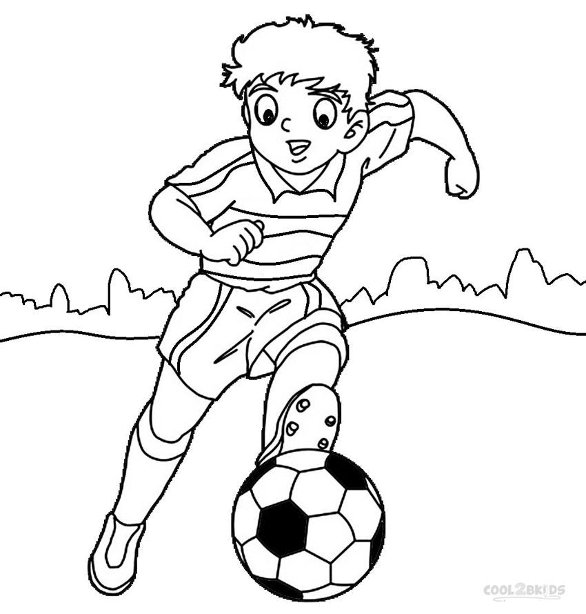 Ausmalbilder Fußballspieler - Malvorlagen kostenlos zum