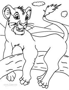 Ausmalbilder Simba - Malvorlagen kostenlos zum ausdrucken