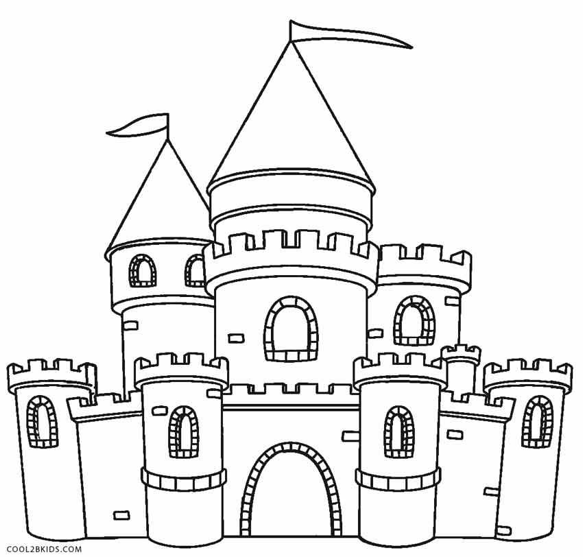 Ausmalbilder Schloss - Malvorlagen kostenlos zum ausdrucken