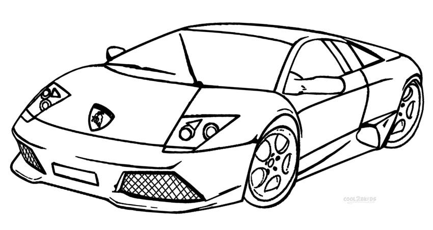 Ausmalbilder Lamborghini - Malvorlagen kostenlos zum