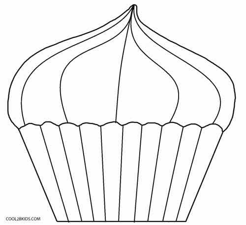 Ausmalbilder Cupcake - Malvorlagen kostenlos zum ausdrucken
