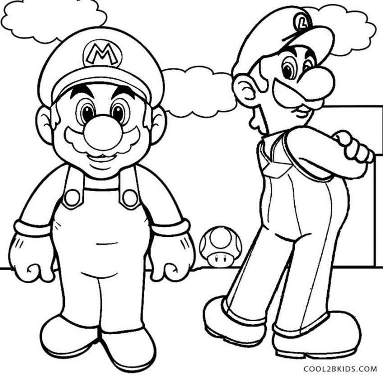 Ausmalbilder Luigi - Malvorlagen kostenlos zum ausdrucken